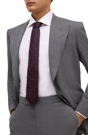 Мужской шелковый галстук ETON бордового цвета, арт. A000 32546   Фото 2
