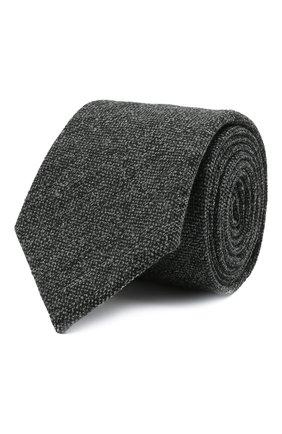 Мужской шерстяной галстук ETON темно-серого цвета, арт. A000 32597   Фото 1 (Материал: Шерсть; Принт: Без принта)