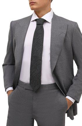 Мужской шерстяной галстук ETON темно-серого цвета, арт. A000 32597   Фото 2 (Материал: Шерсть; Принт: Без принта)