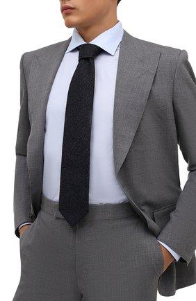 Мужской шерстяной галстук ETON темно-синего цвета, арт. A000 32597 | Фото 2 (Материал: Шерсть; Принт: Без принта)