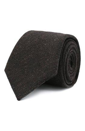 Мужской шерстяной галстук ETON коричневого цвета, арт. A000 32597 | Фото 1 (Материал: Шерсть; Принт: Без принта)