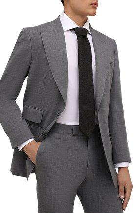 Мужской шерстяной галстук ETON коричневого цвета, арт. A000 32597 | Фото 2 (Материал: Шерсть; Принт: Без принта)