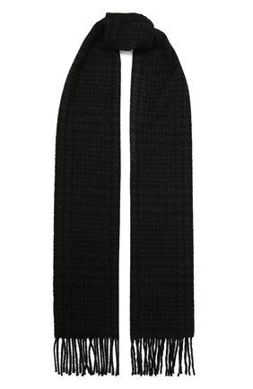 Мужской шерстяной шарф ETON темно-серого цвета, арт. A000 32844   Фото 1 (Материал: Шерсть; Кросс-КТ: шерсть)
