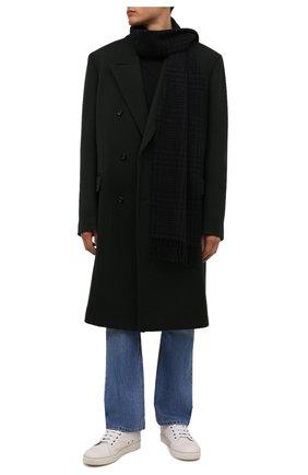 Мужской шерстяной шарф ETON темно-серого цвета, арт. A000 32844   Фото 2 (Материал: Шерсть; Кросс-КТ: шерсть)
