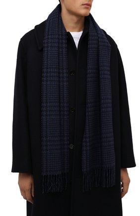 Мужской шерстяной шарф ETON темно-синего цвета, арт. A000 32844   Фото 2