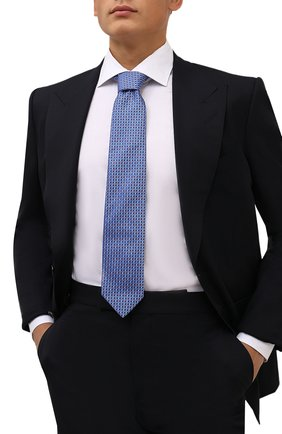 Мужской шелковый галстук ETON голубого цвета, арт. A000 33081   Фото 2