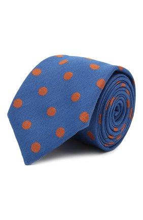 Мужской галстук из шелка и шерсти ETON синего цвета, арт. A000 33139   Фото 1