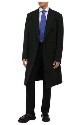 Мужской галстук из шелка и шерсти ETON синего цвета, арт. A000 33139   Фото 2