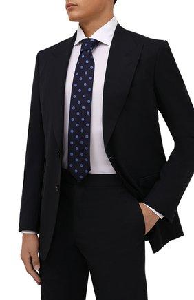Мужской галстук из шелка и шерсти ETON темно-синего цвета, арт. A000 33139 | Фото 2 (Материал: Текстиль, Шерсть, Шелк; Принт: С принтом)
