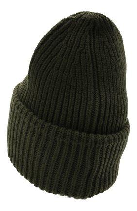 Мужская шапка из шерсти и кашемира MONCLER хаки цвета, арт. G2-091-3B000-48-M1127   Фото 2 (Материал: Шерсть, Кашемир; Кросс-КТ: Трикотаж)
