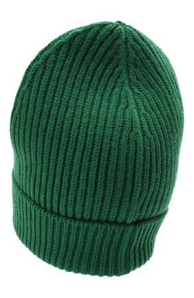 Мужская шерстяная шапка DOLCE & GABBANA темно-зеленого цвета, арт. GXE83T/JBVB6   Фото 2 (Материал: Шерсть; Кросс-КТ: Трикотаж)