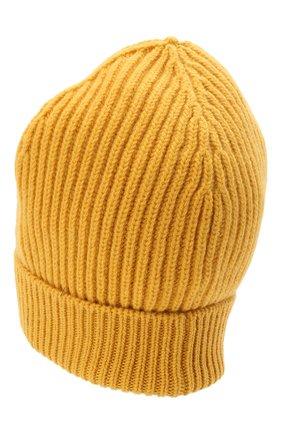 Мужская шерстяная шапка DOLCE & GABBANA желтого цвета, арт. GXE83T/JBVB6 | Фото 2 (Материал: Шерсть; Кросс-КТ: Трикотаж)