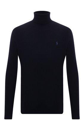 Мужской шерстяной свитер POLO RALPH LAUREN темно-синего цвета, арт. 710810838   Фото 1
