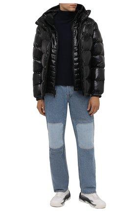 Мужской шерстяной свитер POLO RALPH LAUREN темно-синего цвета, арт. 710810838   Фото 2