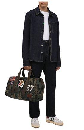 Мужская текстильная дорожная сумка POLO RALPH LAUREN хаки цвета, арт. 405752381   Фото 2