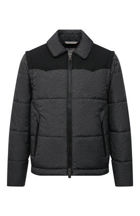 Мужская утепленная куртка CANALI темно-серого цвета, арт. 040649E/SY01830 | Фото 1