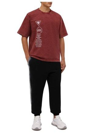 Мужская хлопковая футболка DOLCE & GABBANA красного цвета, арт. G8MZ0T/HU7IL   Фото 2 (Материал внешний: Хлопок; Рукава: Короткие; Принт: С принтом; Стили: Кэжуэл; Длина (для топов): Стандартные)