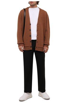 Мужской шерстяной кардиган MAISON MARGIELA светло-коричневого цвета, арт. S50GP0245/S17785 | Фото 2