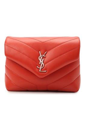 Женская сумка loulou toy SAINT LAURENT кораллового цвета, арт. 678401/DV706 | Фото 1 (Материал: Натуральная кожа; Сумки-технические: Сумки через плечо; Ремень/цепочка: На ремешке; Размер: mini)