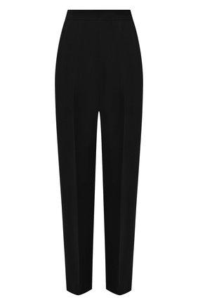 Женские брюки из вискозы JIL SANDER черного цвета, арт. JSPT301300-WT381000 | Фото 1 (Материал внешний: Вискоза; Длина (брюки, джинсы): Стандартные; Женское Кросс-КТ: Брюки-одежда; Силуэт Ж (брюки и джинсы): Прямые; Стили: Кэжуэл)