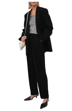 Женские брюки из вискозы JIL SANDER черного цвета, арт. JSPT301300-WT381000   Фото 2 (Материал внешний: Вискоза; Длина (брюки, джинсы): Стандартные; Женское Кросс-КТ: Брюки-одежда; Силуэт Ж (брюки и джинсы): Прямые; Стили: Кэжуэл)