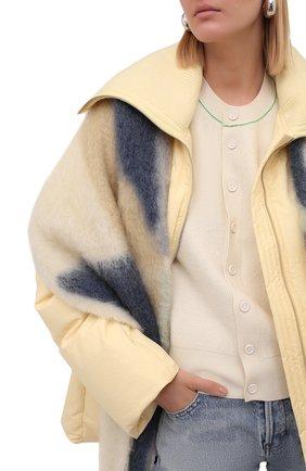 Женский шарф JIL SANDER голубого цвета, арт. JPPT902022-WT199030 | Фото 2 (Материал: Шерсть)