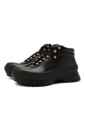 Женские кожаные ботинки JIL SANDER черного цвета, арт. JP37001A-14510 | Фото 1 (Материал внутренний: Натуральная кожа; Подошва: Платформа; Женское Кросс-КТ: Хайкеры-ботинки)