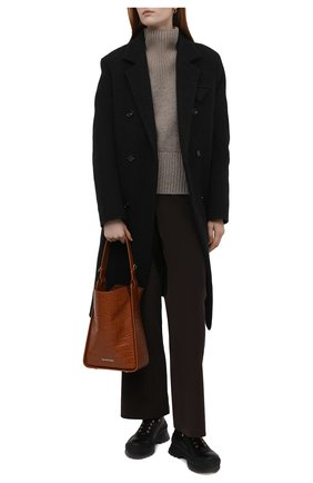 Женские кожаные ботинки JIL SANDER черного цвета, арт. JP37001A-14510 | Фото 2 (Материал внутренний: Натуральная кожа; Подошва: Платформа; Женское Кросс-КТ: Хайкеры-ботинки)