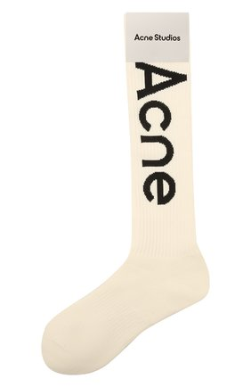 Женские хлопковые носки ACNE STUDIOS кремвого цвета, арт. C80085/W | Фото 1