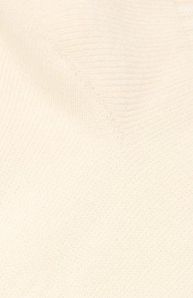 Женские хлопковые носки ACNE STUDIOS кремвого цвета, арт. C80085/W | Фото 2
