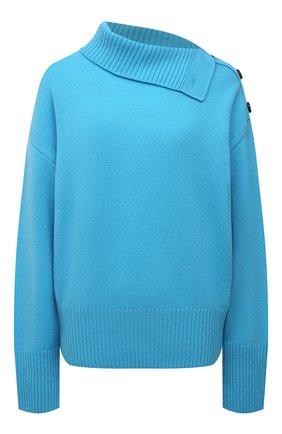 Женский свитер из шерсти и кашемира MSGM голубого цвета, арт. 3141MDM118 217790 | Фото 1