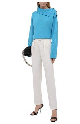 Женский свитер из шерсти и кашемира MSGM голубого цвета, арт. 3141MDM118 217790 | Фото 2