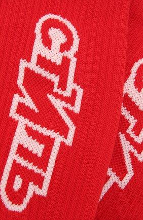 Женские хлопковые носки HERON PRESTON красного цвета, арт. HWRA008F21KNI0022501 | Фото 2