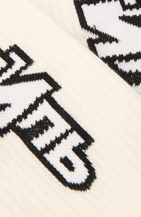 Женские хлопковые носки HERON PRESTON белого цвета, арт. HWRA008F21KNI0020110 | Фото 2