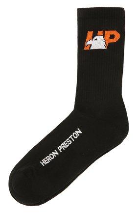 Женские хлопковые носки HERON PRESTON черного цвета, арт. HWRA008F21KNI0011022 | Фото 1