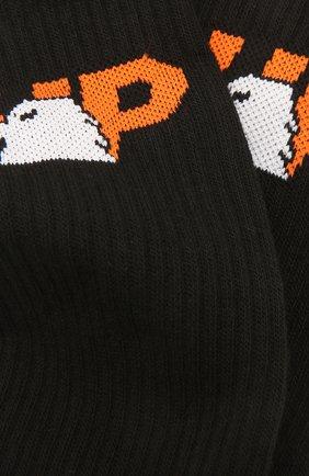 Женские хлопковые носки HERON PRESTON черного цвета, арт. HWRA008F21KNI0011022 | Фото 2