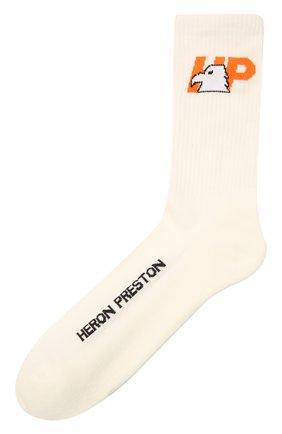 Женские хлопковые носки HERON PRESTON белого цвета, арт. HWRA008F21KNI0010122 | Фото 1