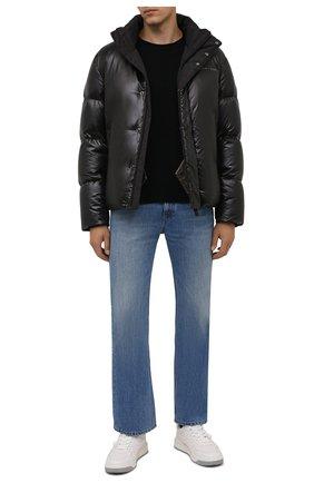 Мужская пуховая куртка boss x porsche BOSS черного цвета, арт. 50455843 | Фото 2 (Материал подклада: Синтетический материал; Материал внешний: Синтетический материал; Материал утеплителя: Пух и перо; Длина (верхняя одежда): Короткие; Рукава: Длинные; Кросс-КТ: Куртка; Мужское Кросс-КТ: пуховик-короткий; Стили: Кэжуэл)