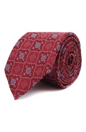 Мужской шелковый галстук ETON красного цвета, арт. A000 32545 | Фото 1 (Материал: Шелк, Текстиль; Принт: С принтом)