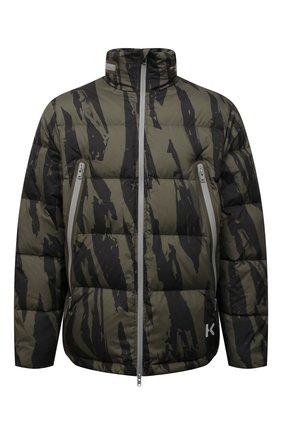 Мужская пуховая куртка KENZO хаки цвета, арт. FB650U1271NN   Фото 1 (Материал утеплителя: Пух и перо; Материал подклада: Синтетический материал; Материал внешний: Синтетический материал; Рукава: Длинные; Длина (верхняя одежда): Короткие; Кросс-КТ: Куртка; Мужское Кросс-КТ: пуховик-короткий; Стили: Кэжуэл)