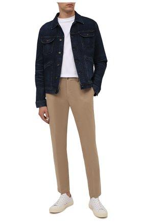 Мужская джинсовая куртка TOM FORD темно-синего цвета, арт. BYJ31/TFD116   Фото 2 (Рукава: Длинные; Длина (верхняя одежда): Короткие; Материал внешний: Хлопок; Кросс-КТ: Куртка, Деним; Стили: Кэжуэл)