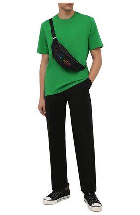 Мужская текстильная поясная сумка CALVIN KLEIN черного цвета, арт. K9KUSU0115   Фото 2 (Материал: Текстиль; Ремень/цепочка: На ремешке)