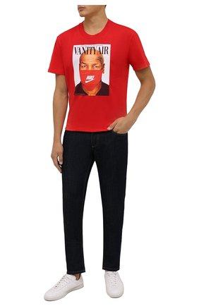 Мужская хлопковая футболка DIEGO VENTURINO красного цвета, арт. FW21-DV TS0 VAT | Фото 2 (Материал внешний: Хлопок; Принт: С принтом; Рукава: Короткие; Стили: Гранж; Длина (для топов): Стандартные)