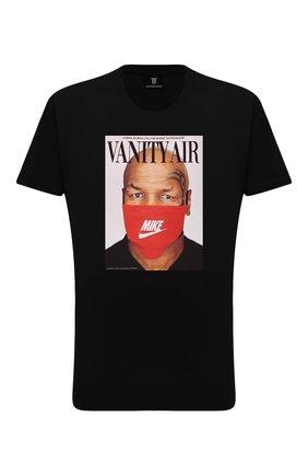 Мужская хлопковая футболка DIEGO VENTURINO черного цвета, арт. FW21-DV TS0 VAT | Фото 1