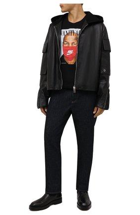 Мужская хлопковая футболка DIEGO VENTURINO черного цвета, арт. FW21-DV TS0 VAT | Фото 2
