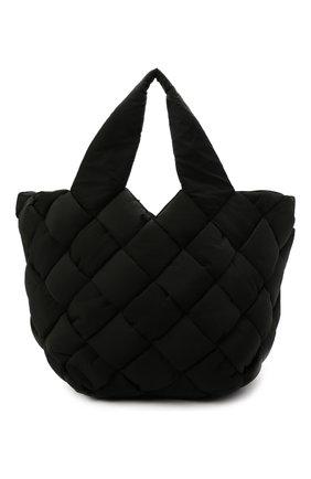 Мужская текстильная сумка-шопер cassette BOTTEGA VENETA черного цвета, арт. 666868/VB080 | Фото 1