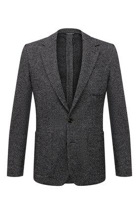 Мужской пиджак из шерсти и хлопка DOLCE & GABBANA серого цвета, арт. G2PT9T/GEV53 | Фото 1