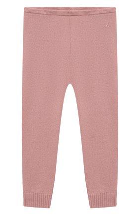 Детские кашемировые леггинсы BONPOINT светло-розового цвета, арт. PEBDA2568PA(024)_824196   Фото 1 (Материал внешний: Шерсть, Кашемир; Ростовка одежда: 9 мес   74 см)