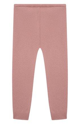 Детские кашемировые леггинсы BONPOINT светло-розового цвета, арт. PEBDA2568PA(024)_824196   Фото 2 (Материал внешний: Шерсть, Кашемир; Ростовка одежда: 9 мес   74 см)