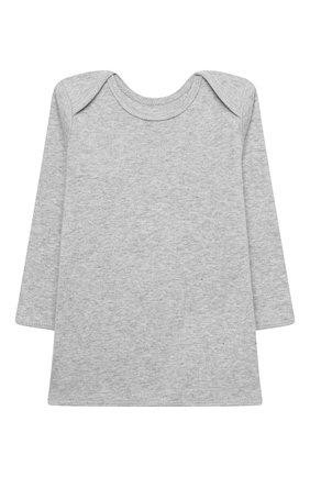 Детский хлопковая пижама BONPOINT серого цвета, арт. PEBIOENSEMB(092)_824271 | Фото 2 (Материал внешний: Хлопок; Рукава: Длинные; Ростовка одежда: 9 мес | 74 см)